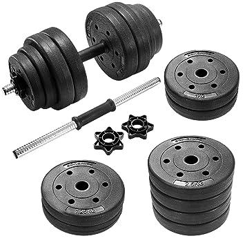 SONGMICS 30 kg Juego de Pesas Mancuernas de Fitness Ideal para Hombres Negro SYL30HV1: Amazon.es: Deportes y aire libre