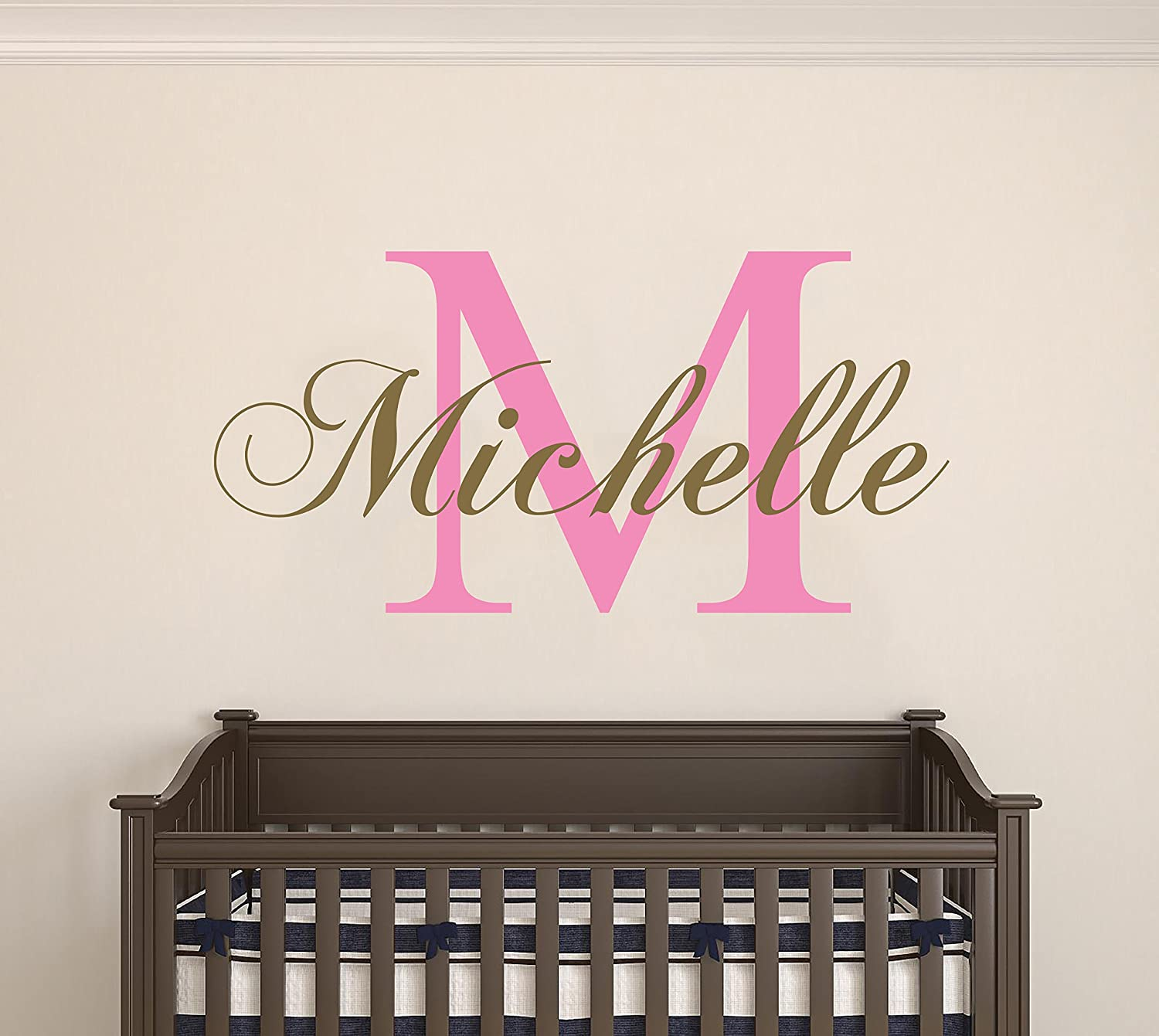 Custom Name Chopin Gold Series Wall Decal Nursery - Baby Boy Girl Decoration - Mural Wall Decal Sticker for Home Interior Decoration Car Laptop (MM39) (Wide 30 x 15 Height) e-Graphic Design Inc