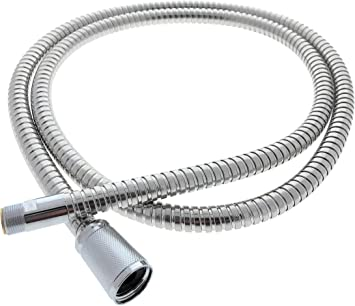 Essential Values Pull Out Replacement Hose 46092000 59 Inches Compatible Replacement For Grohe Kitchen Faucets Fits Ladylux Euro Plus More Models Light Beautiful Chrome Finish Amazon Com
