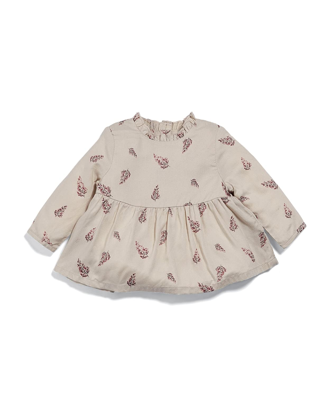 Mamas /& Papas Baby Girls Leaf Print Blouse
