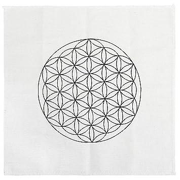 amazon com qgem crystal grid cloth printed flower of life sacred