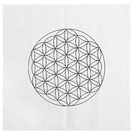 qgem crystal grid cloth printed flower life sacred geometry healing