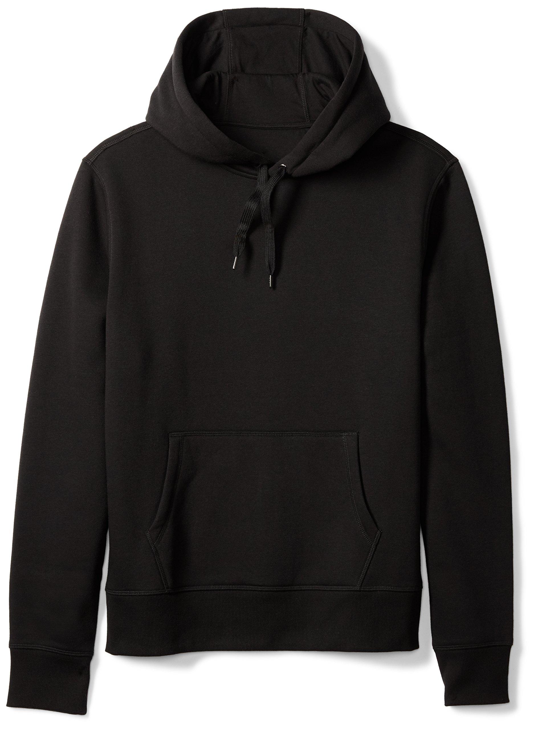 Amazon Essentials Men's Hooded Fleece Sweatshirt, Black, Large by Amazon Essentials