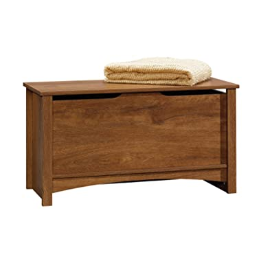 Sauder 412221 Shoal Creek Storage Chest, L: 34.88  x W: 15.08  x H: 18.94 , Oiled Oak finish