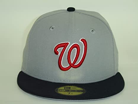 b592f87b686 New Era Washington Nationals Custom 2Tone Grey Black 59Fifty NewEra Select  Cap Size  7 1