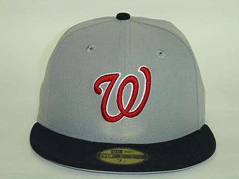 b592f87b686 New Era Washington Nationals Custom 2Tone Grey Black 59Fifty NewEra Select  Cap Size  7 1