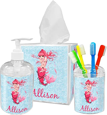 RNK Shops Mermaid Bathroom Accessories Set (Personalized)