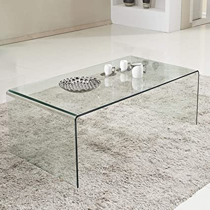 Amazon Com Tangkula Glass Coffee Table Modern Home Office Furniture