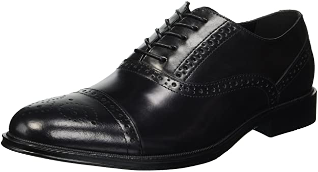 Reaction Kenneth Cole Zac Medallion Toe Brogue Oxford Black
