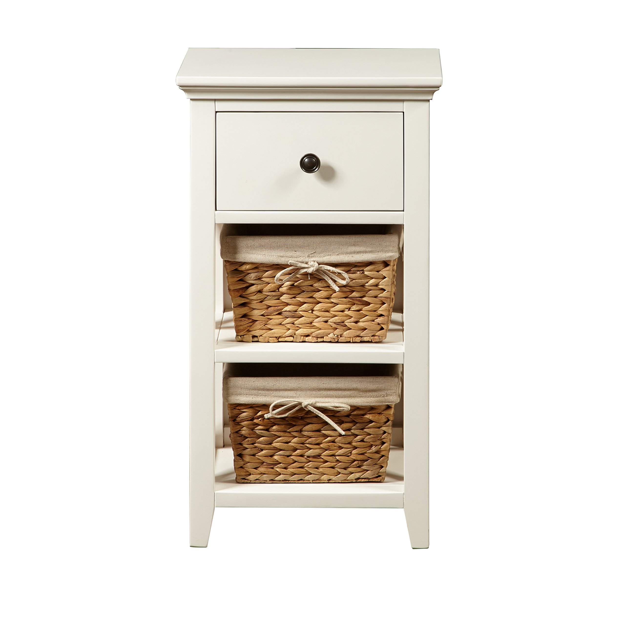 Pulaski DS-A049-857 Woven Wooden Basket Bathroom Storage Cabinet