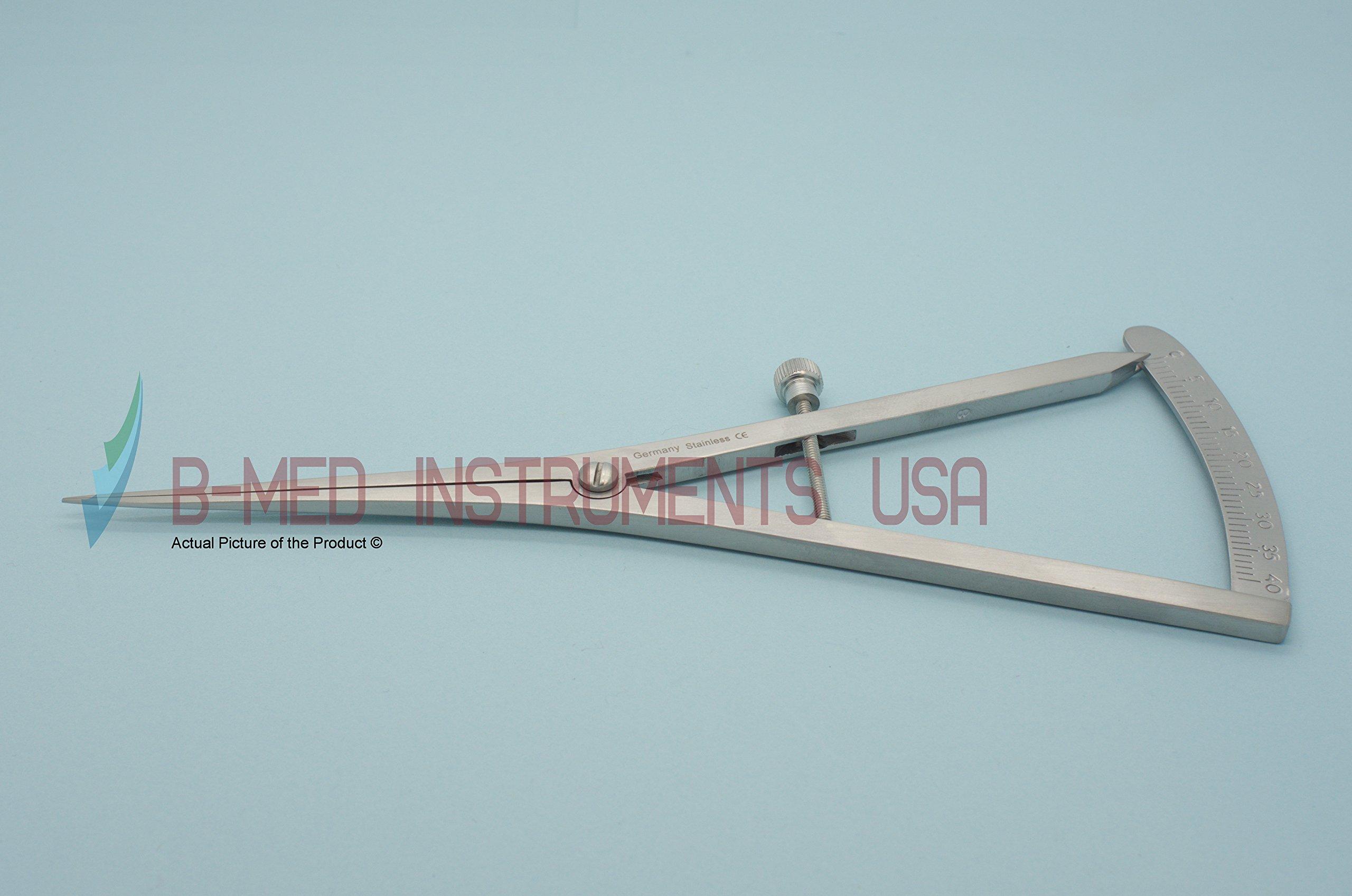 Castroviejo Caliper 0-40MM Straight Long 6.75'' Bone Ridge Mapping Dental Instruments