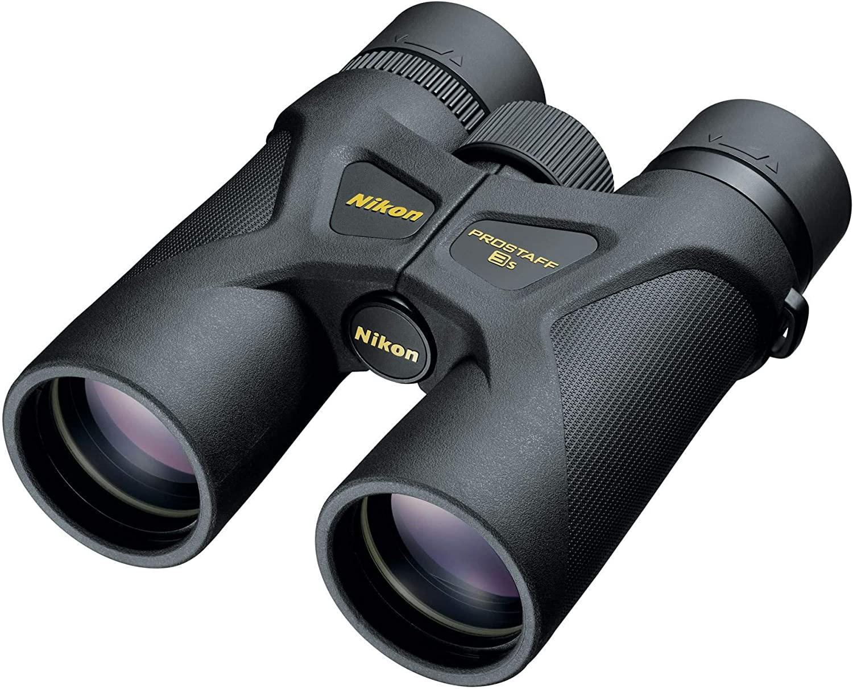 Photo of a pair of binoculars with Nikon print on it.
