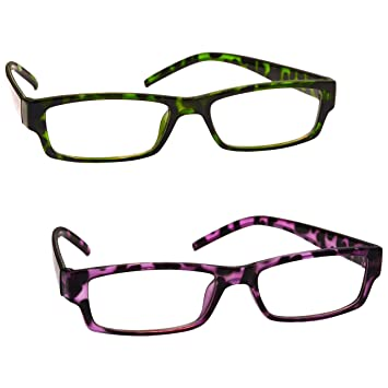 3fff60601f1 The Reading Glasses Company Green   Purple Tortoiseshell Readers Value 2 Pack  Womens Ladies UVR2PK009 009PP +