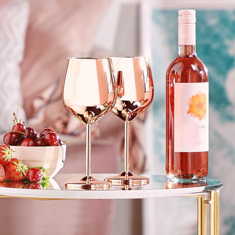 Rose Weingläser als Hochzeitsgeschenk