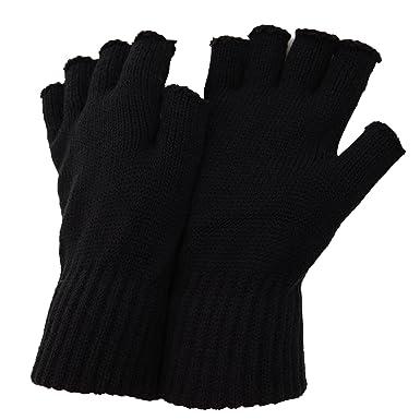 cf481ee8be3db FLOSO - Mitaines thermiques - Homme (Taille unique) (Noir): Amazon.fr:  Vêtements et accessoires