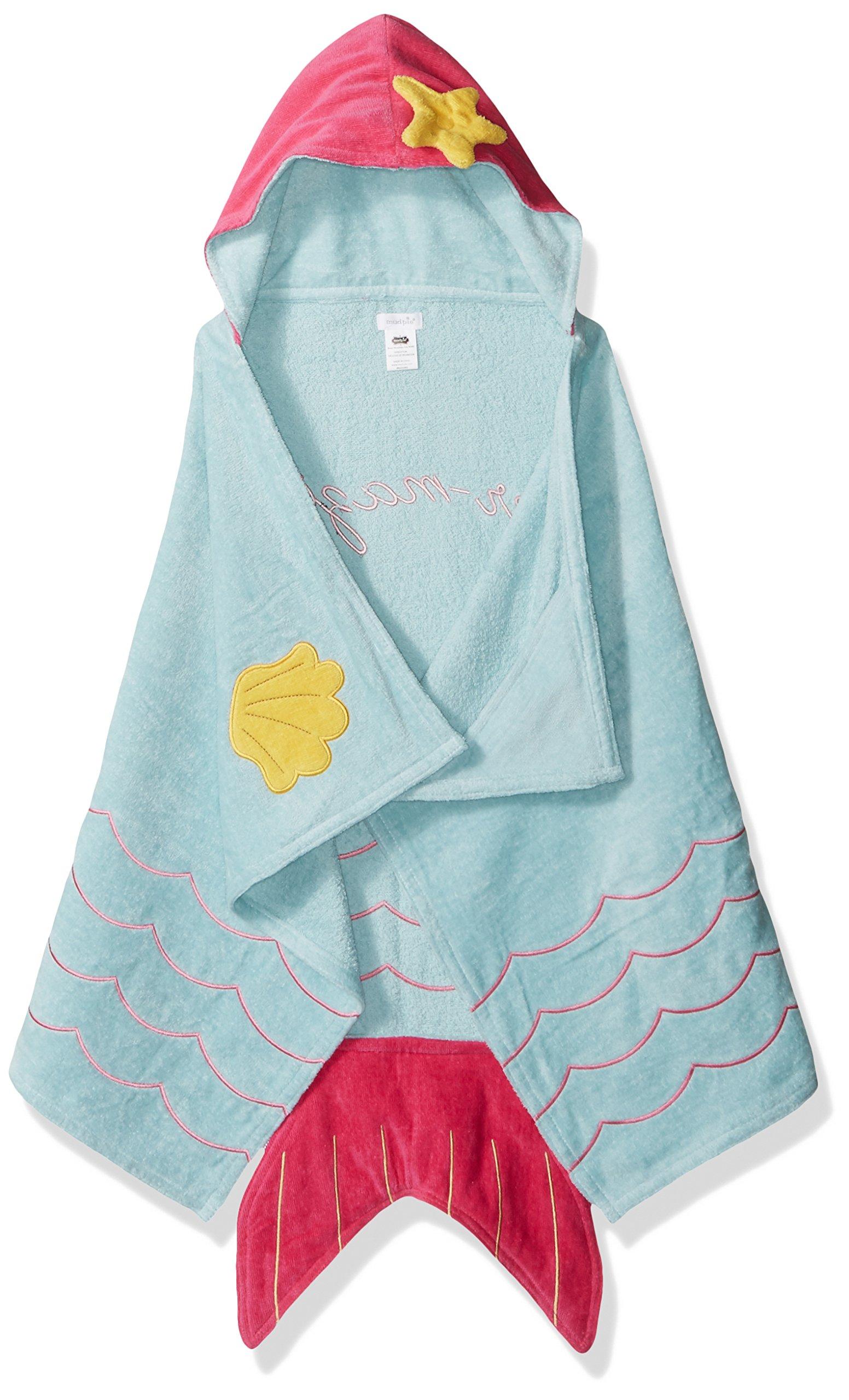 Mud Pie Baby Hooded Bath Towel Girl, Mermaid, One Size by Mud Pie