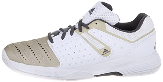 adidas Performance Women s Court Stabil 12 W Volleyball Shoe White/Star  Metallic/Grey 10 B(M) US: Amazon.in: Shoes & Handbags