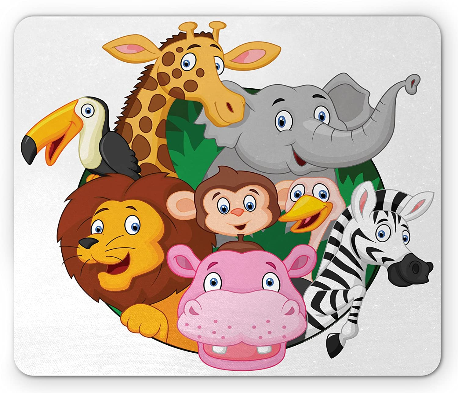 Mouse Pad Round Mouse Pad Zebra Mom and Kid Sturdy