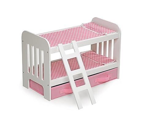 Amazon Com Badger Basket Doll Bunk Bed With Ladder Storage