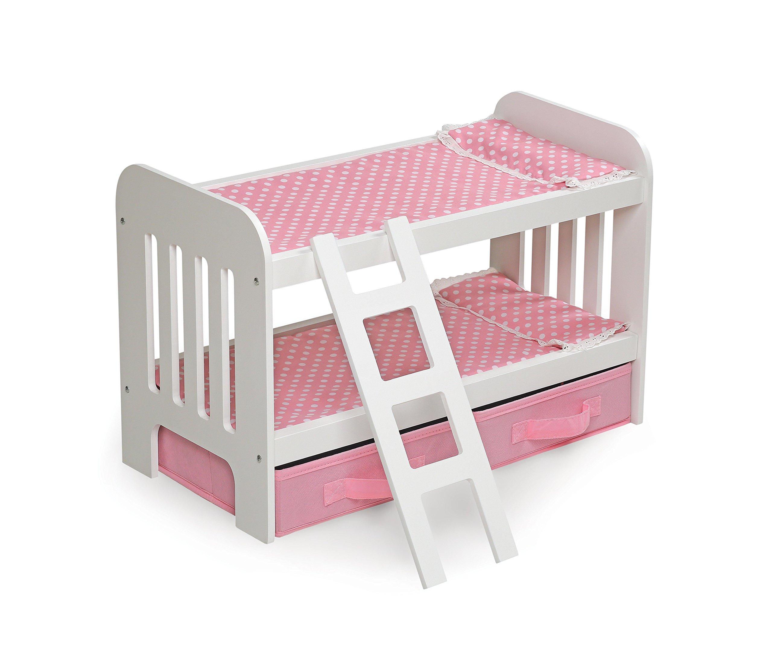 Badger Basket Doll Bunk Bed Ladder Storage Baskets Fits American