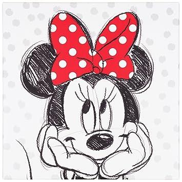 BilligerLuxus Wandbild Kunstdruck 35x35 Disney Minnie Maus schwarz ...