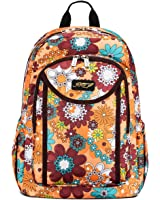 JFT Deluxe Colorful Water Resistant Backpack For Women & Girls W/ Air-Cell Straps