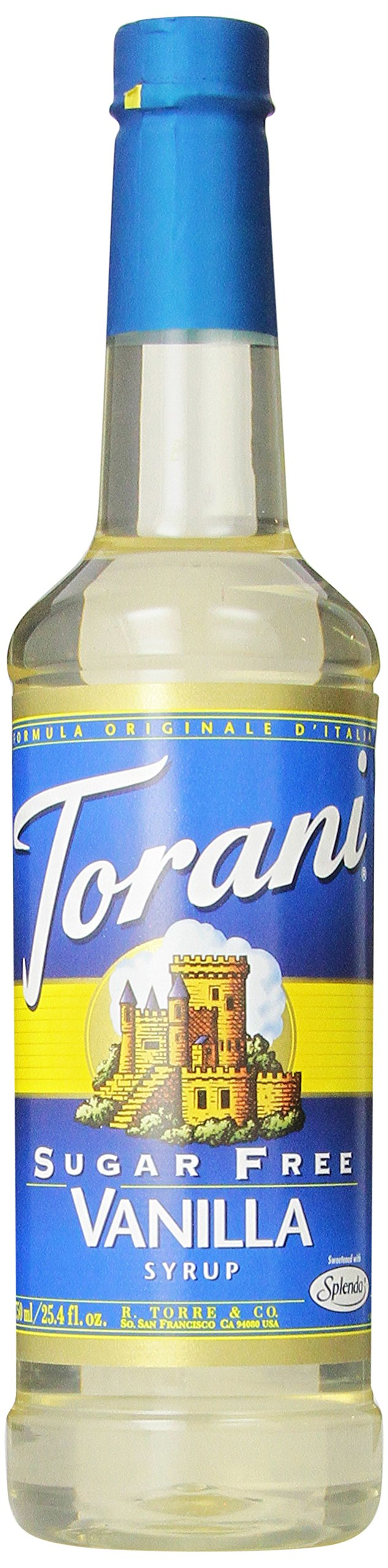 Torani Sugar Free Syrup, Vanilla, 25.4 Ounce (Pack of 4)