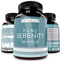 Pure Serenity Anxiety Relief & Stress Support Supplement -Premium Pharmaceutical...