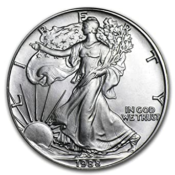 BU 1988 1 oz American Silver Eagle Coin