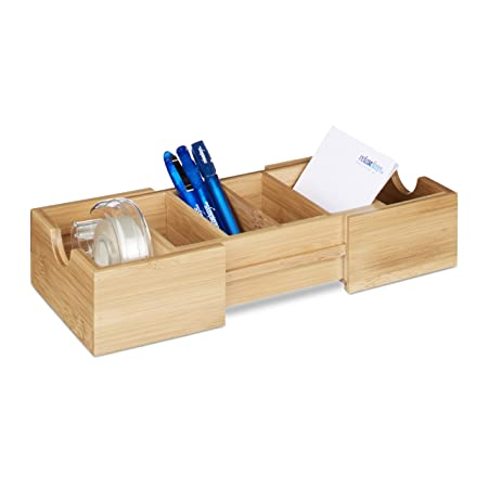 Relaxdays bamboo index card box din a8 business card organiser relaxdays bamboo index card box din a8 business card organiser pull out reheart Image collections