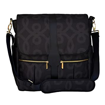 Amazon.com : JJ Cole Backpack Diaper Bag, Black and Gold : Baby