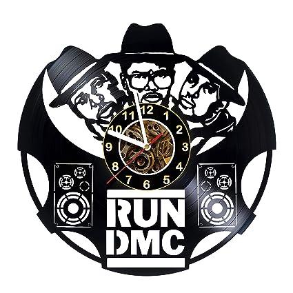 Amazon com: OLESIAstudios Run DMC - Wall Clock Made of Vinyl
