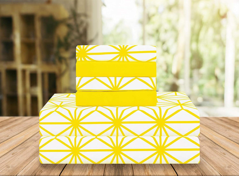 Elegant Comfort Luxury Soft Yellow Bed Sheet
