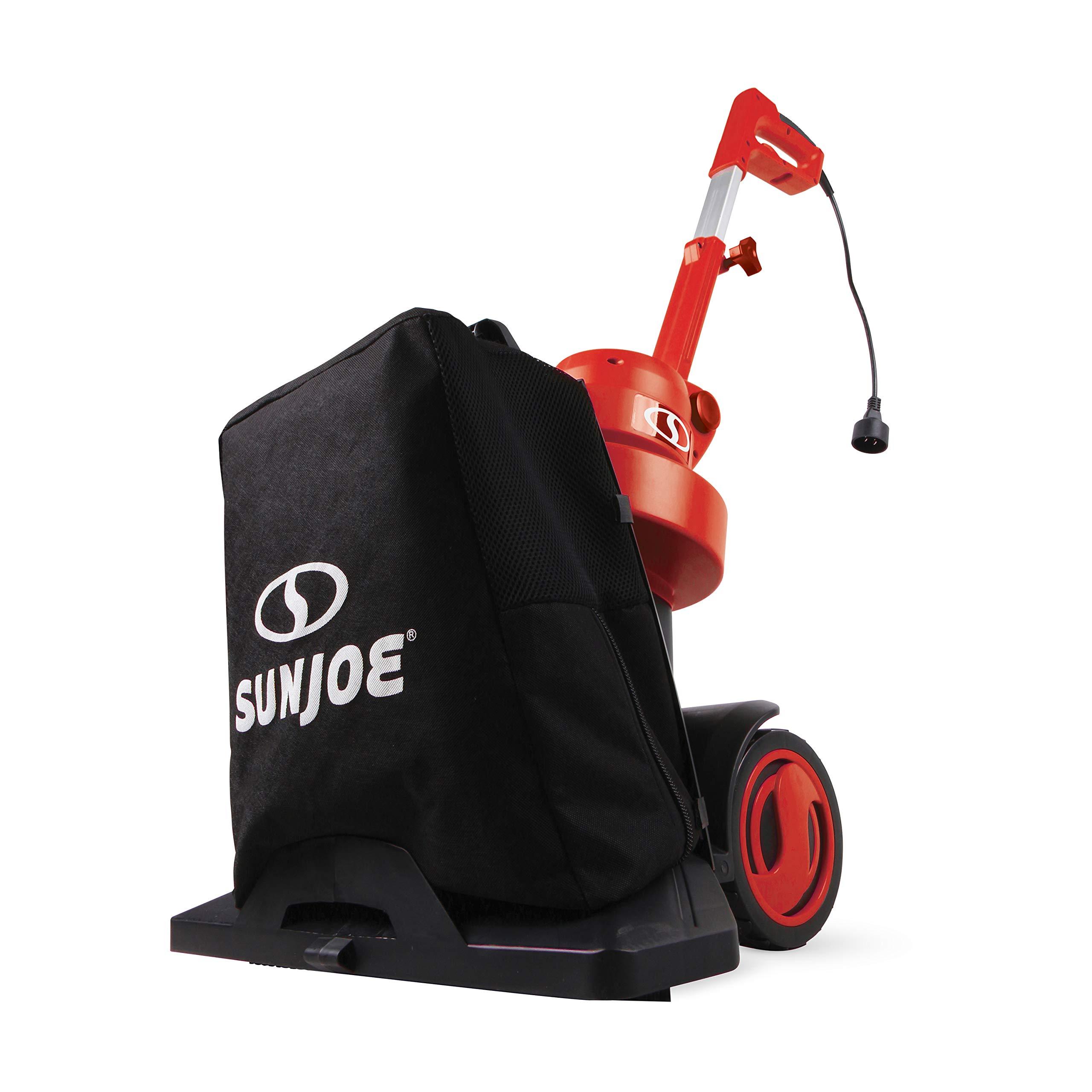 Sun Joe SBJ801E-RED-RM 3-in-1 Electric Blower/Vacuum/Mulcher   Max 130 MPH   13.5-Amp   Walk Behind (Red,Refurbished)