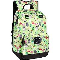 JINX Minecraft Overworld Sprites Kids Backpack (Green, 43cm) for School, Camping, Travel, Outdoors & Fun