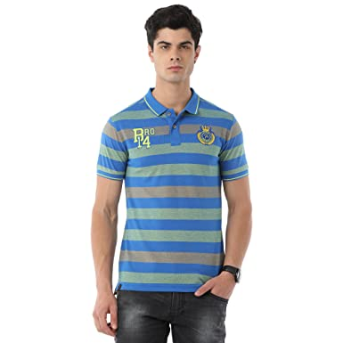 9becce44 CPBRO Classic Polo Bro Striped Blue T-Shirt for Men: Amazon.in: Clothing &  Accessories