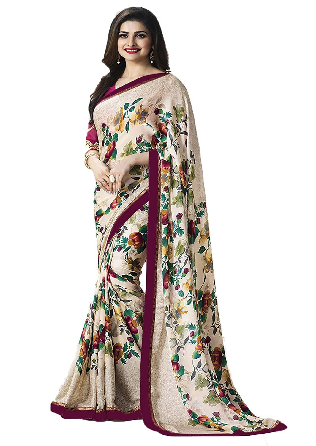 Lajree Designer Women's Clothing Saree Collection in Multi-Coloured Georgette Material For Women Party Wear,Wedding,Casual sarees Offer Latest Design Wear Sarees With Blouse Piece