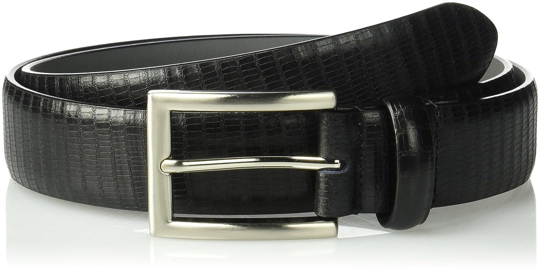 Stacy Adams Mens 32mm Genuine Leather Lizard Embossed Belt