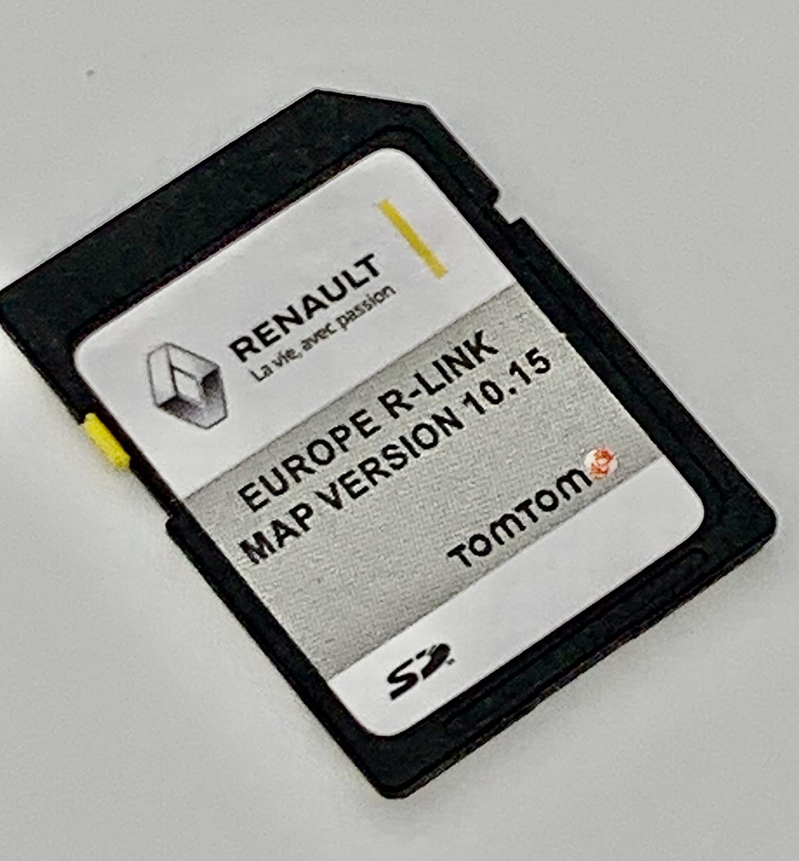 Última tarjeta SD para Renault R-Link Tom 2020 Tarjeta SD Sat Nav Map Update. Cover All Europe. Versión 10.15 - MEGANE, CLIO, LAGUNA, SCENIC, KANGOO, FLUENCE, ESPACE, TRAFFIC