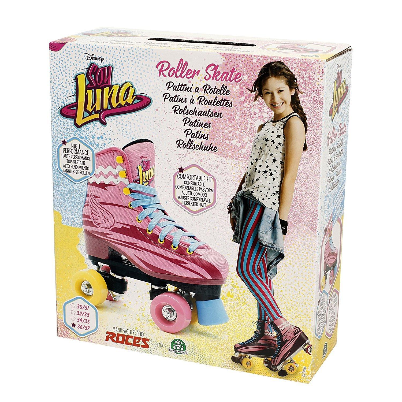 SOY LUNA 4-Wheeled Roller Skates (34-35) / US Children Size (3 - 3.5) by Soy Luna