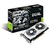 ASUS Geforce Dual GTX 1050 Ti 4GB Dual-Fan Edition DVI-D HDMI DP 1.4 Gaming Graphics Card (DUAL-GTX1050TI-4G) Graphic Cards
