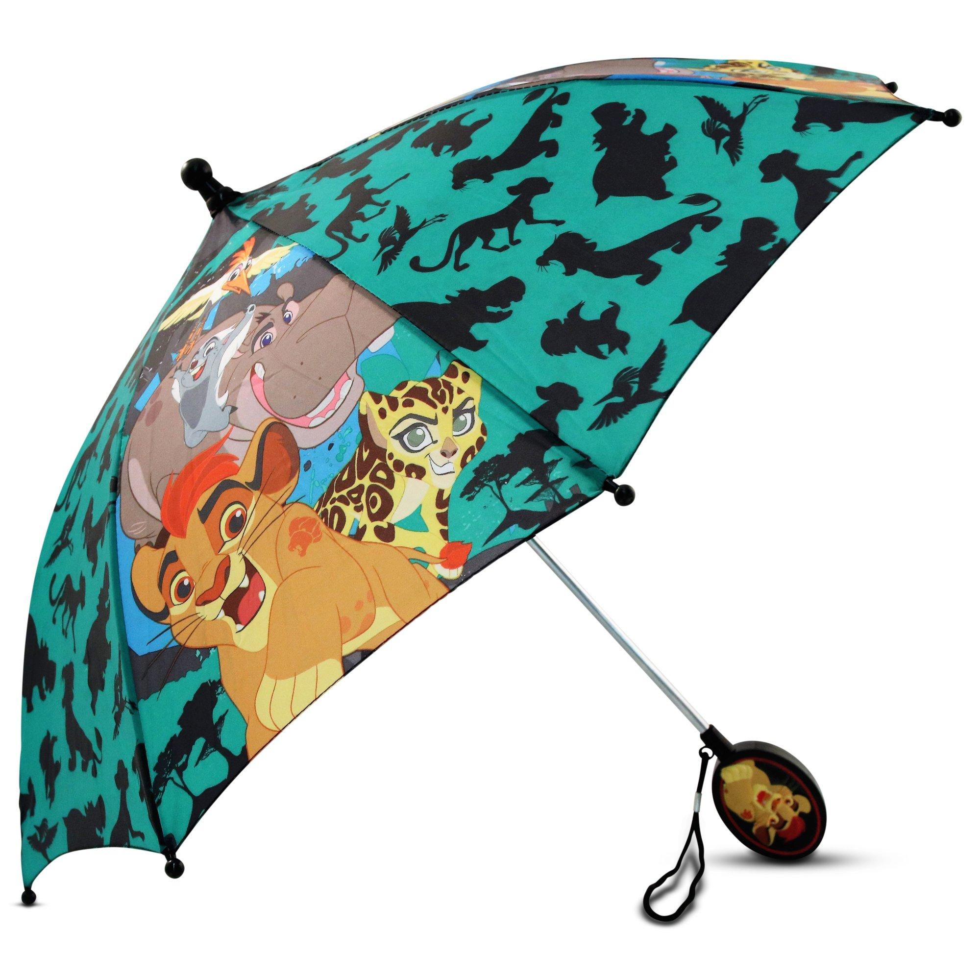 Disney Little Boys The Lion Guard Character Rainwear Umbrella, Green/Black, Age 3-7