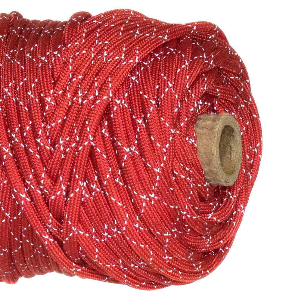 Paracord Planet Reflective Tracer 700lb Paracord - 100% Nylon High Visibility Cord by PARACORD PLANET