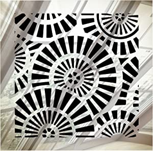 """SABA Vent Covers Air Grille - Acrylic Fiberglass Register 8"""" x 8"""" Duct Opening (10"""" x 10"""" Overall) Mirror Finish Decorative Register for Walls, Ceilings NOT Floor use, Waterwheel"""