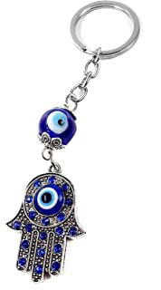 Amazon.com: Afco Turkish Blue Evil Eye Keychain Car Keyring ...
