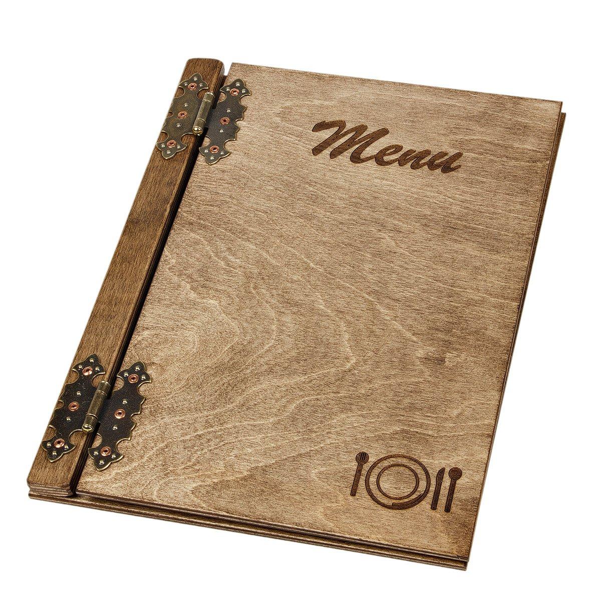 Speisekarte 1 Stück aus Holz Holzspeisekarte Restaurant Karte ...