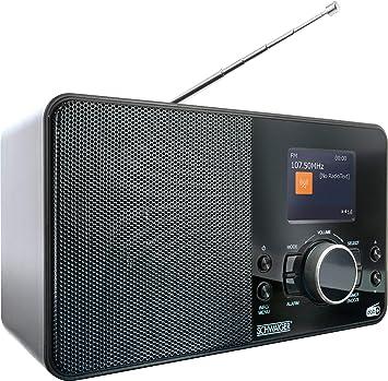 Schwaiger DAB400 513 - Radio Digital | Dab/Dab+ o FM | con Antena de Varilla y función de Despertador | Funcionamiento a través de la Fuente de ...