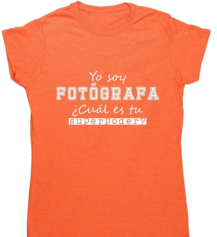 HippoWarehouse Yo Soy Fotógrafa, ¿Cuál es tu Superpoder? camiseta manga corta ajustada para mujer: Amazon.es: Ropa y accesorios