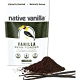 Native Vanilla Powder – Premium Gourmet 100% Pure Ground Vanilla Bean Powder – For Chefs and Homemade Baking, Ice Cream, Coff