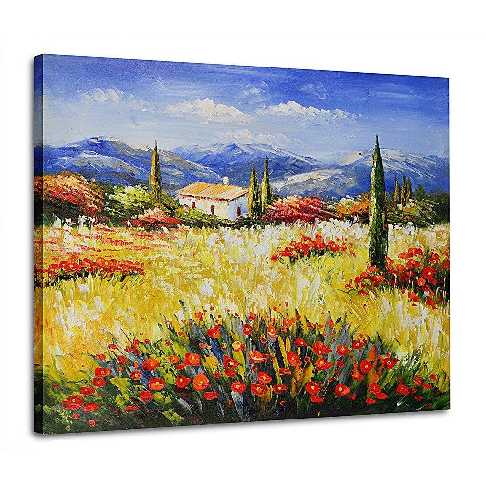 Raybre Art® 50 * 60 CM 100% Hecho a Mano al óleo Lienzo Lámina sin ...